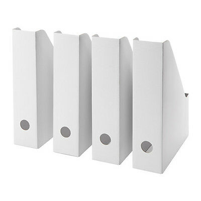 4 pc Magazine Storage Holder File Organizer 4 Pack  Free Shipping White