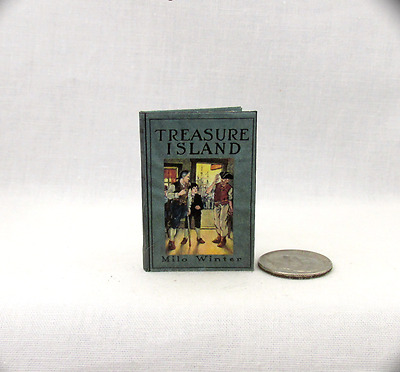 1:6 Scale TREASURE ISLAND Readable Illustrated Book Blythe Momoko Barbie Scale