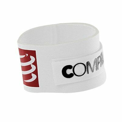 White Compressport Timing Chip Strap Porta Chip, Bianco