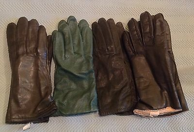 New 4 Pairs Of Women's Leather Gloves Size Medium
