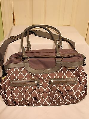 JJ Cole Canvas Satchel Diaper Bag - Stone Arbor missing changing pad FLAWLESS