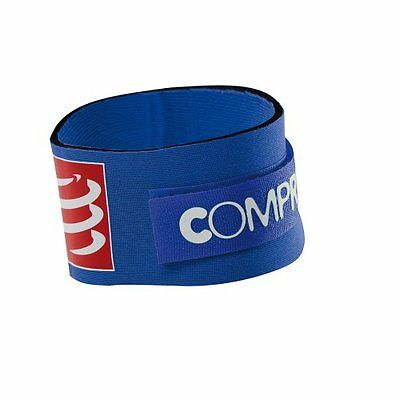 Blue Compressport Timing Chip Strap Porta Chip, Blu