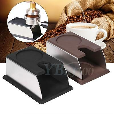 Coffee Tamper Holder Coffee Powder Make Stand Rack Tool Stainless Steel+Silicone