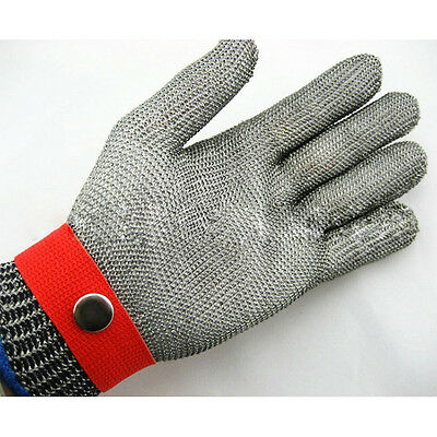 Anti-Cut Proof Stab Resistant Gloves With Metal Button Stainless Steel Wire Mesh