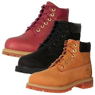 "New Timberland Kids' Leather Waterproof 6"" Classic Premium Ankle Boots Cheap"