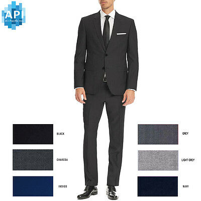 Men's Formal Classic Fit 2 piece Suit two button solid color Jacket pants CT201