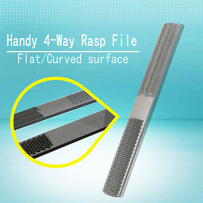 Popular 4 in 1 Rasp Round Wood Files Woodworking Hand Tool Fitter  DIY File 8''