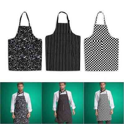Hot Mens Womens Cafe Commercial Restaurant Chef Kitchen Aprons Convenient  MN