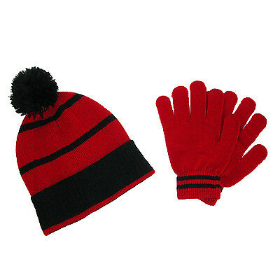 Kids' Knit Beanie Hat and Gloves Winter Set