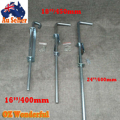 "Gate Drop Bolt 12""/300mm 16''/400mm -18''/450mm -24''/600mm Bolts Zinc Plated"