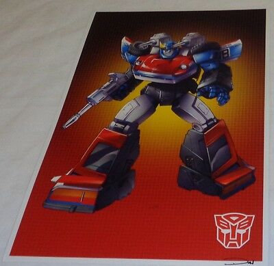 G1 Transformers Autobot Optimus Prime Poster Picture 11x17 Box Art Grid 1