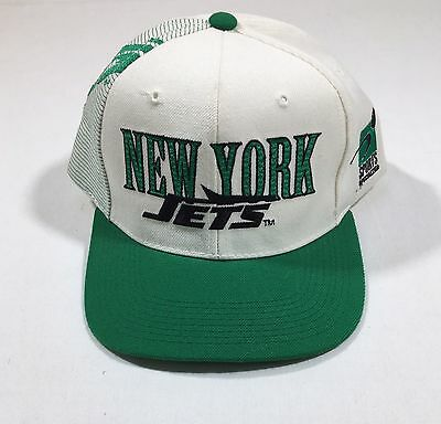 VTG New York Jets Snapback Hat Cap Shadow Spellout Collision Sports Specialties