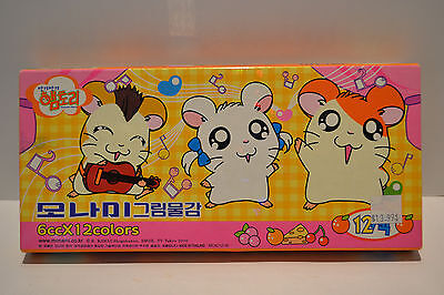 "Hamtaro Boxed Paint Set Hamster ""Hamster Story"" 12 Colors TV Tokyo 2000"