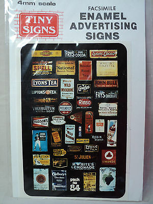 Tiny Signs OO/HO 'Enamel' Advertising Signs 1