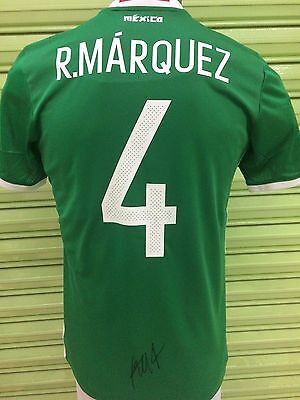 Jersey Mexico 2017 Signed by Rafael Márquez Barcelona Atlas Photo Proof