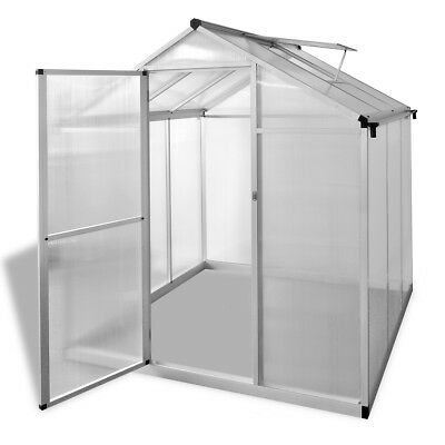 # Aluminium Polycarbonate Garden Greenhouse with Base Frame 182x190cm Reinforced