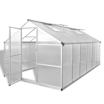 # Aluminium Polycarbonate Garden Greenhouse with Base Frame 361x250cm Reinforced