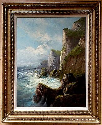 FRANK HIDER (1861-1933) oil painting on canvas signed gilt frame