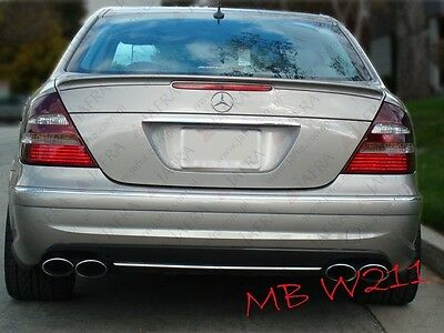 Mercedes Benz W211 E Class Rear spoiler Tailgate Lip AMG STYLE ABS