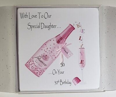 Personalised 30th Birthday Card Daughter Prosecco 18th 21st 25th 40th 50th 60th