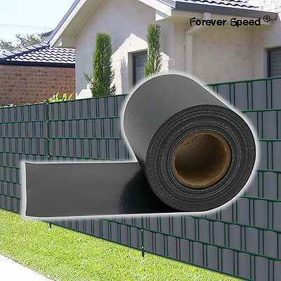 PVC Screen Fence Garden & Land Privacy Protection 65m with 30 clips light black