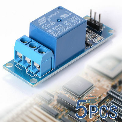 5PCS 5V 1 Channel Relay Shield Module optocoupler For PIC AVR DSP ARM Arduino AU