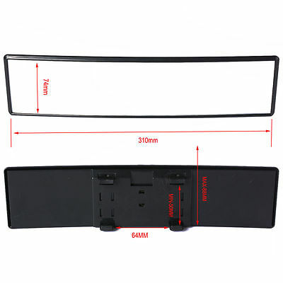Car Rear View Panoramic Wide Angle Mirror Clip On Interior  31X7.4MM Golf MA164