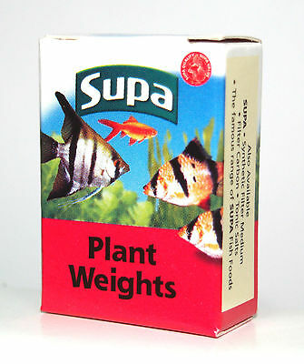 SUPA PLANT WEIGHTS - 10 Small Strips Of Lead Weight Aquarium Fish Tank  Coldwater