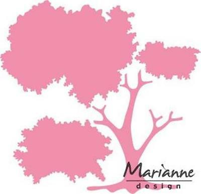 Marianne Design Collectables Die Cut Emboss Stencil Build A Tree Col1424