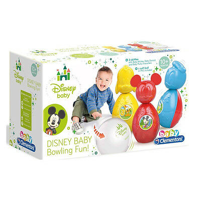 New Clementoni Disney Mickey Mouse Baby Bowling Fun Playset