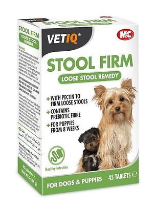 Mark & Chappell Vet IQ Dog Puppy Stool Firm for Loose Stools Poop 45 Tablets