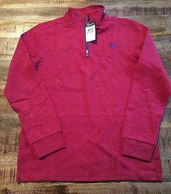 RALPH LAUREN CHAPS Red & Navy Blue Long Sleeve Pullover Boys Size XL 18-20 NWT!