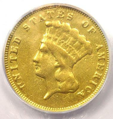 1874 Three Dollar Indian Gold Piece $3 - Certified ICG F15 Details - Rare Coin!