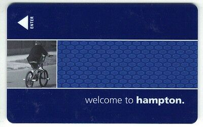 Hampton Inn Hotel by Hilton Room Key Card - Bicycle on front