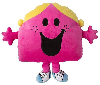 Mr Men & Little Miss Chatterbox Shaped Soft Plus Embroidered Cushion