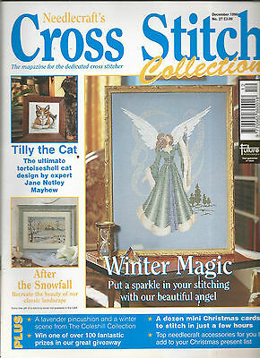 Cross Stitch Collections Magazine # 27 Tilly The Cat  Beautiful Angel  Christmas