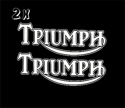 x2 Triumph Vinyl Decal Sticker Motorbike Tank Car Van  Clssic Retro laptop