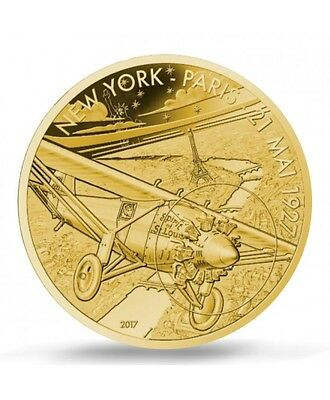 FRANCE 50 Euro Or BE 2017 L'Aviation Spirit of Saint Louis - Gold coin