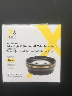 XIT PHOTO Pro Series 52mm camera lens high definition 2.2x telephoto NEW