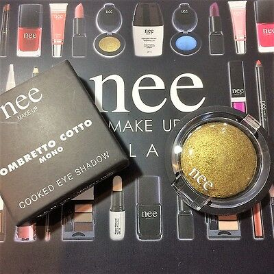 Nee Make Up Eye Shadow Ombretto Cotto 824 Oro Gold  Pearl Wet Dry Professionale