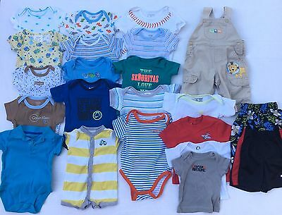 Baby Boys Clothes Size 0-3 & 3-6 Months Spring & Summer 24 Piece Lot