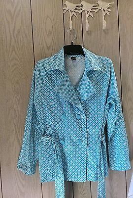 Women's Scott Taylor size M button down belted spring jacket coat