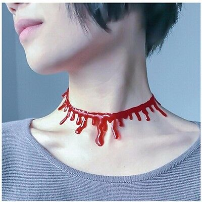 Red Blood Choker Necklace Party Boho Halloween Piercing Bohemian Gypsy A170