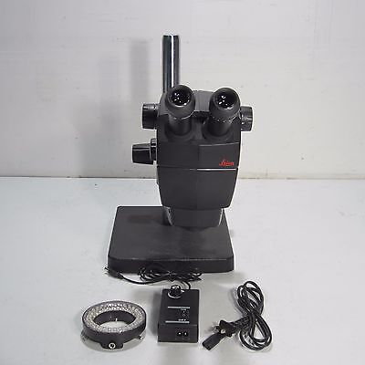 Leica A60 Stereo Zoom Microscope With Boom Stand & Led Light Ring
