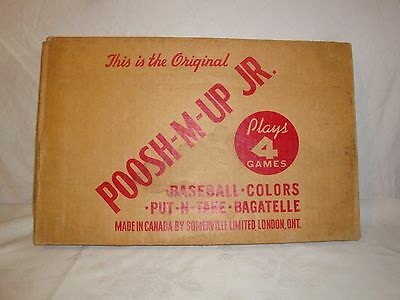 VINTAGE 1930's PUSH M UP Jr. 4 IN 1 PINBALL GAME NORTHWESTERN MADE IN CANADA CIB