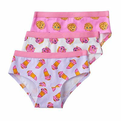 Shopkins 3 Pair Girls' Underwear Hipster Undies Panties Pack Girl Size 8