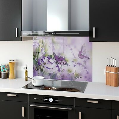 Kitchen Splashback Toughened Glass Heat Resistant Butterflies 35821579 90x65cm