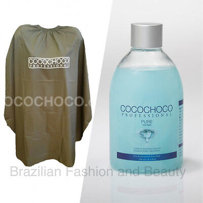 Cocochoco Pure Brazilian Keratin Treatment Blow Dry Hair Straightening 250Ml Kit