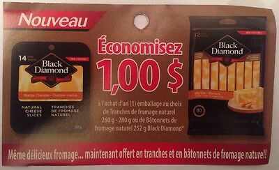 Lot 10 x 1.00$ Black Diamond Products Canada Coupons
