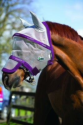 Horseware Rambo FLY MASK PLUS Vamoose Bug/Insect/Midge/Fly Protection FlyMask